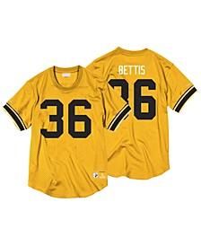 Men's Jerome Bettis Pittsburgh Steelers Name & Number Mesh Crewneck Top