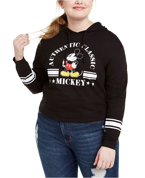 Love Tribe Trendy Plus Size Mickey Mouse Graphic Hoodie, Created For Macy's