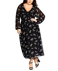 Trendy Plus Size Gentle Floral Dress