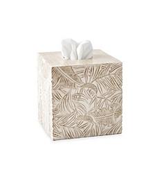 Palm Wood Tissue Box Cover
