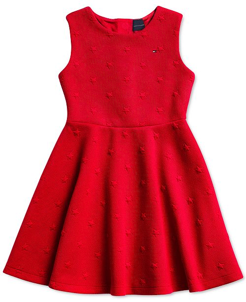 Tommy Hilfiger Big Girls Sleeveless Dress with Magnetic Buttons