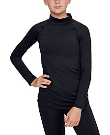 Under Armour Big Girls Fitted Cold Gear Mock Turtleneck Top