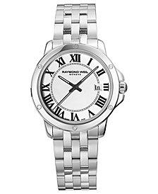 RAYMOND WEIL Watch, Men's Swiss Tango Stainless Steel Bracelet 39mm 5591-ST-00300