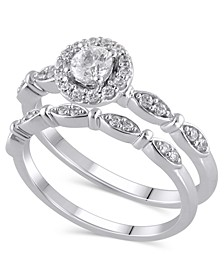 Certified Diamond (1/2 ct. t.w.) Bridal Set in 14K White Gold