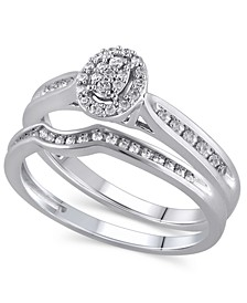 Certified Diamond (1/4 ct. t.w.) Bridal Set in 14K White Gold