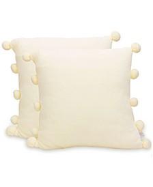 "Pom Pom 18""x18""  Throw Pillow"