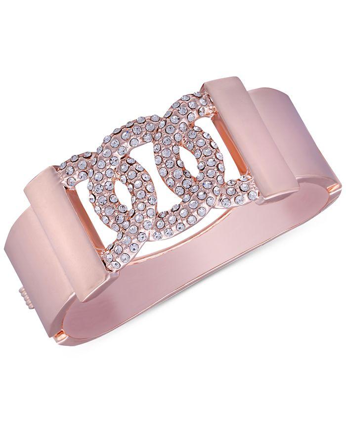 GUESS - Rose Gold-Tone Pavé Bangle Bracelet