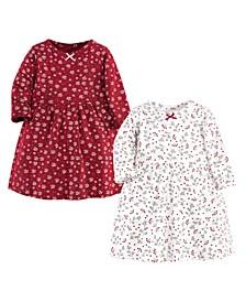 Baby Girl Long Sleeve Dress, 2 Pack