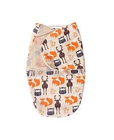 Baby Boy Plush Swaddle Wrap