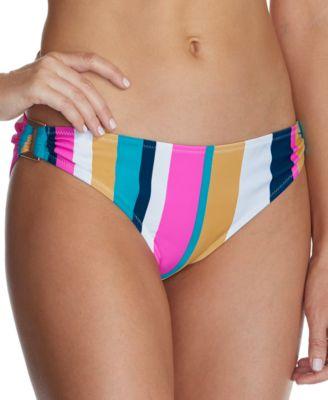 Juniors' Belle Mar Striped O-Ring Bikini Bottoms, Created For Macy's
