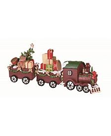 Resin  Red Christmas Santa Train - Set of 3