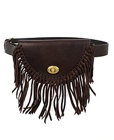Frye & Co Leather Fringe Belt Bag