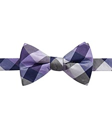 Men's Weho Check Pre-Tied Silk Bow Tie, Created for Macy's