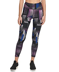 Sport Spray Paint Printed High-Waist Leggings