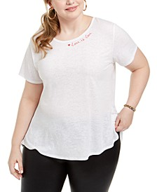 Plus Size Love Split-Back T-Shirt, Created for Macy's