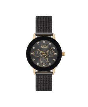 Ladies Genuine Diamond Collection Black Mesh Bracelet Watch