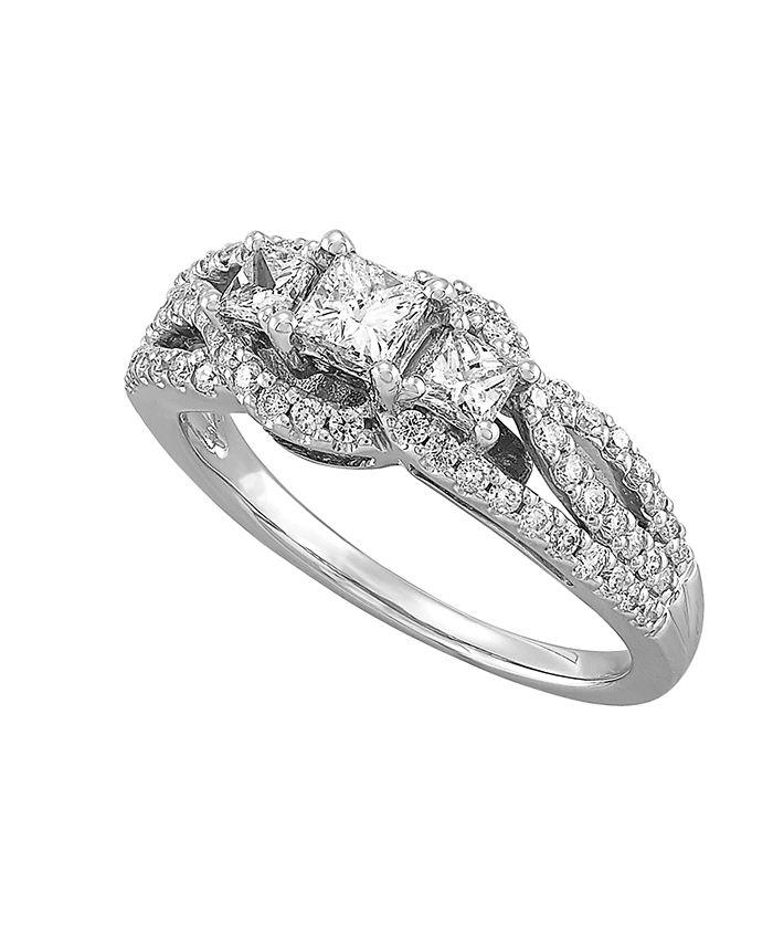 Macy's - Diamond (1 ct. t.w.) Engagment Ring in 14K White Gold