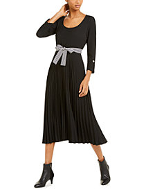 Marella Pleated Belted Dress