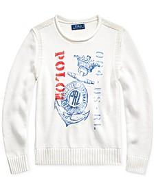 Big Boys Anchor-Print Cotton Sweater