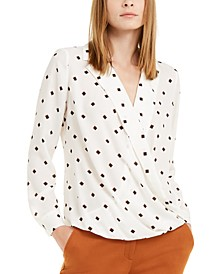 Printed Surplice Blouse, Created For Macy's
