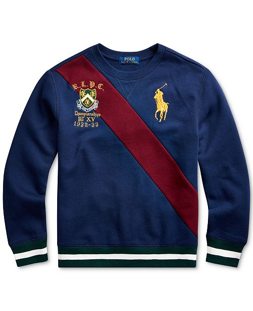 Polo Ralph Lauren Toddler Boys Fleece Graphic Sweatshirt, Created For Macy's