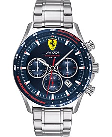 Men's Chronograph Pilota Evo Stainless Steel Bracelet Watch 44mm