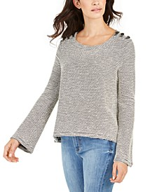 Juniors' Free Thinking Bell-Sleeve Top