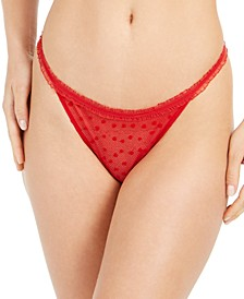 Flocked Hearts String Thong Underwear QF5483