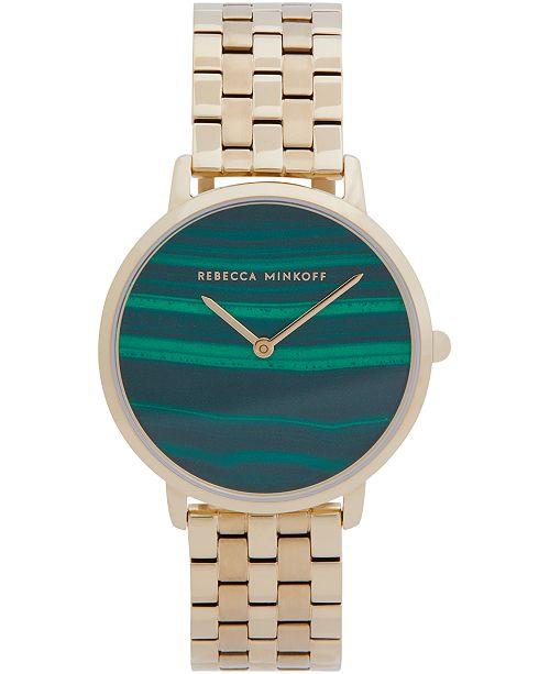Rebecca Minkoff Women's Major Gold-Tone Stainless Steel Bracelet Watch 35mm