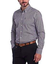 Men's Tailored-Fit Gingham Check Shirt