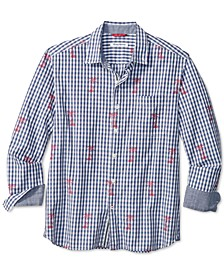 Men's Classic-Fit Palm Gingham Jacquard Shirt