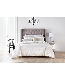 CLOSEOUT! Classic Jacobean Embroidered King Duvet Cover, Created for Macy's