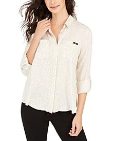 Printed Split-Back Shirt