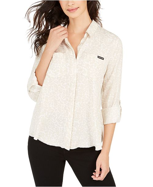 Calvin Klein Jeans Printed Split-Back Shirt