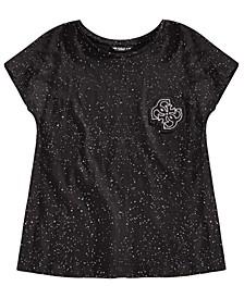 Big Girls Speckled-Print Cotton T-Shirt