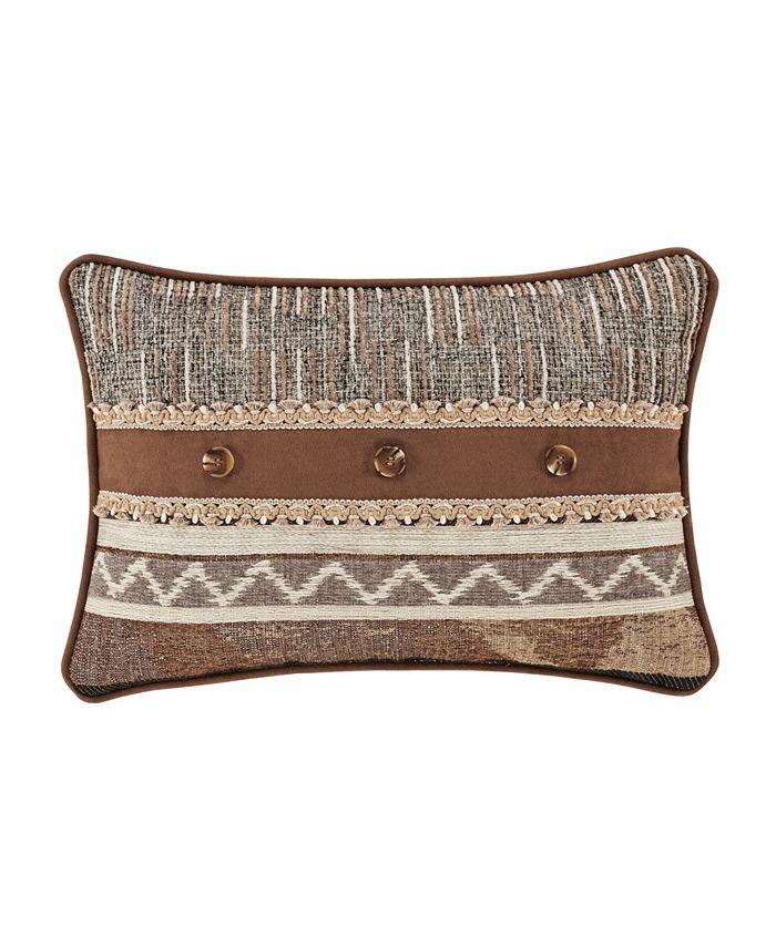 J Queen New York - Jqueen Timber Linen Boudoir Decorative Throw Pillow