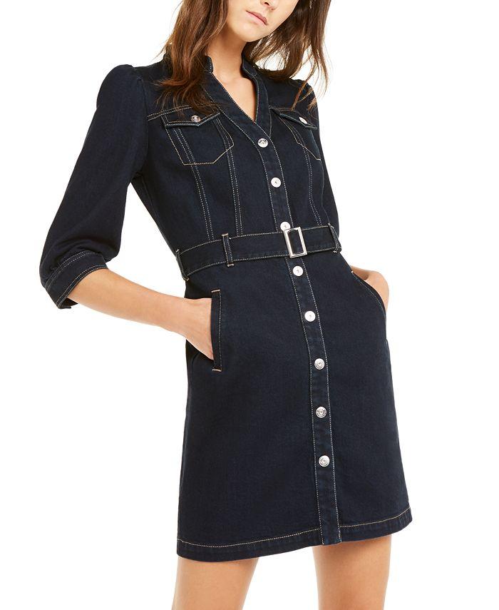 INC International Concepts - Belted Denim Shirtdress