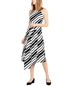 Pleated Asymmetrical-Hem Dress, Created For Macy's