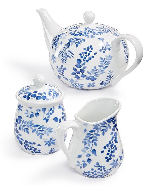Martha Stewart Collection English Garden Tea Set, Created for Macy's