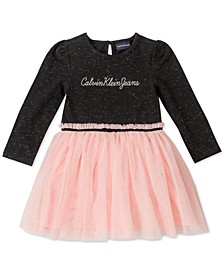 Baby Girls Mesh-Peplum Dress