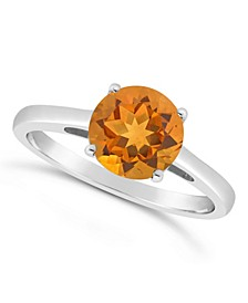 Citrine (1-7/8 ct. t.w.) Ring in Sterling Silver. Also Available in Garnet (2-1/3 ct. t.w.) and London Blue Topaz (2-3/8 ct. t.w.)