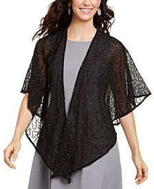Squiggle-Sequins Draped Shawl