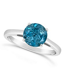 London Blue Topaz (2-3/8 ct. t.w.)  Ring in Sterling Silver. Also Available in Garnet (2-1/3 ct. t.w.) and Citrine (1-7/8 ct. t.w.)