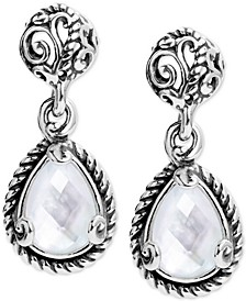 Mother-of-Pearl Doublet Drop Earrings in Sterling Silver