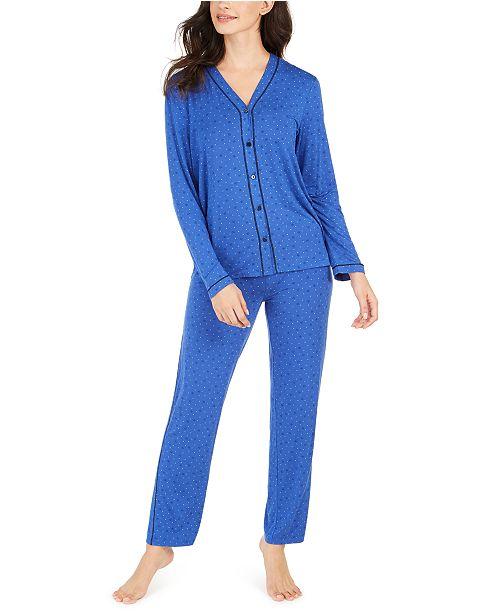 Alfani Contrast Seam Pajama Set, Created for Macy's