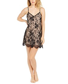 INC Women's Floral Lace Chemise Nightgown, Created For Macy's
