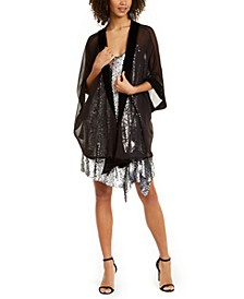INC Velvet-Border Kimono Wrap, Created for Macy's