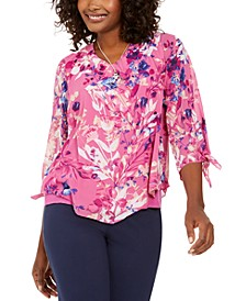 Asymmetrical Printed Necklace Top, Created for Macy's
