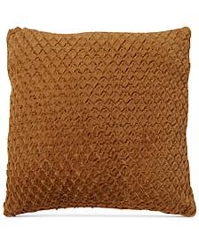 """La Casa Bella Plush Diamond 18"""" x 18"""" Decorative Pillow, Created For Macy's"""