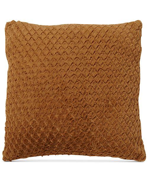 """Mystic Apparel La Casa Bella Plush Diamond 18"""" x 18"""" Decorative Pillow, Created For Macy's"""
